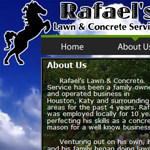 Rafael's Lawn and Concrete